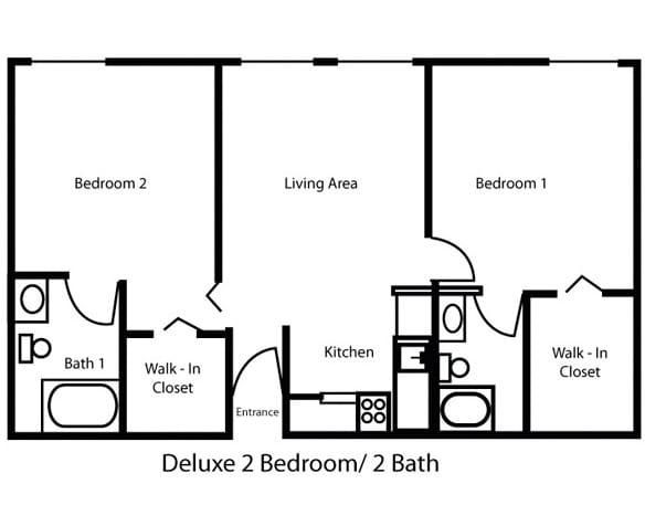Deluxe 2 Bedroom/1 Bath