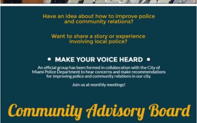Meeting Community Advisory Board Miami