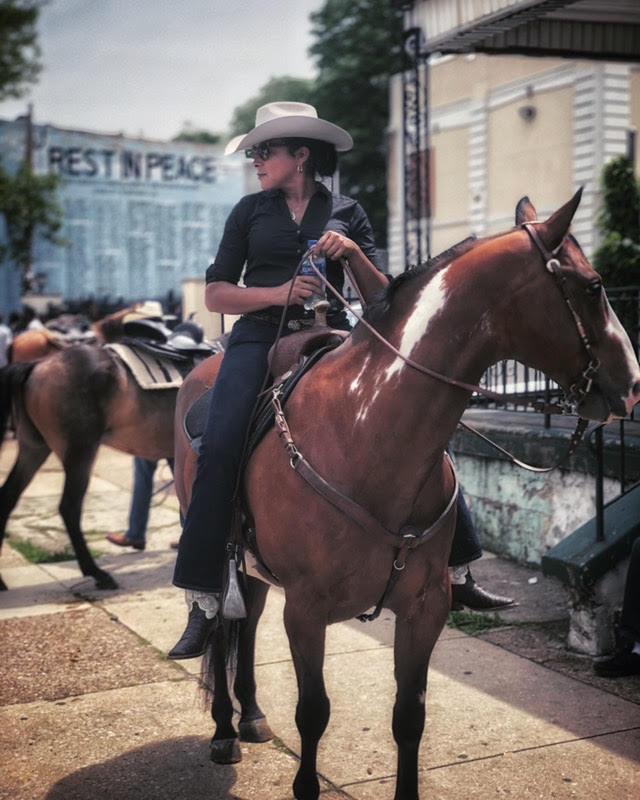 Erin on a horse