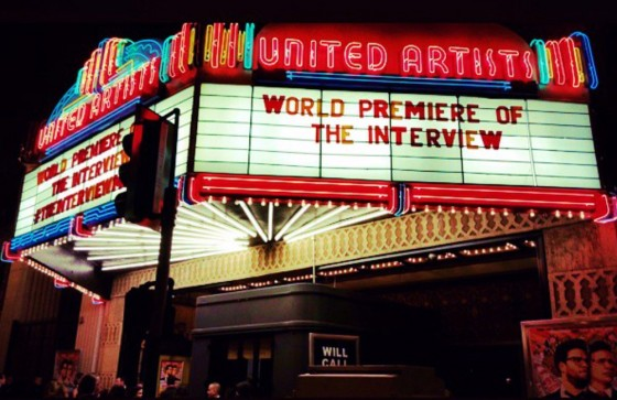 The Interview, movie, premiere, Los Angeles