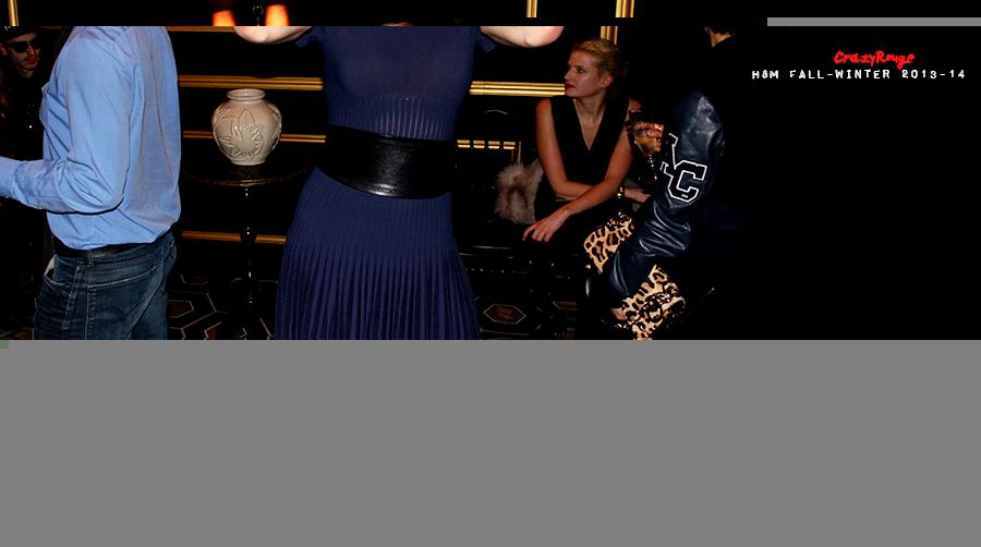 14 Crazy Rouge+Paris+Jessica Stam+first+H&M+show