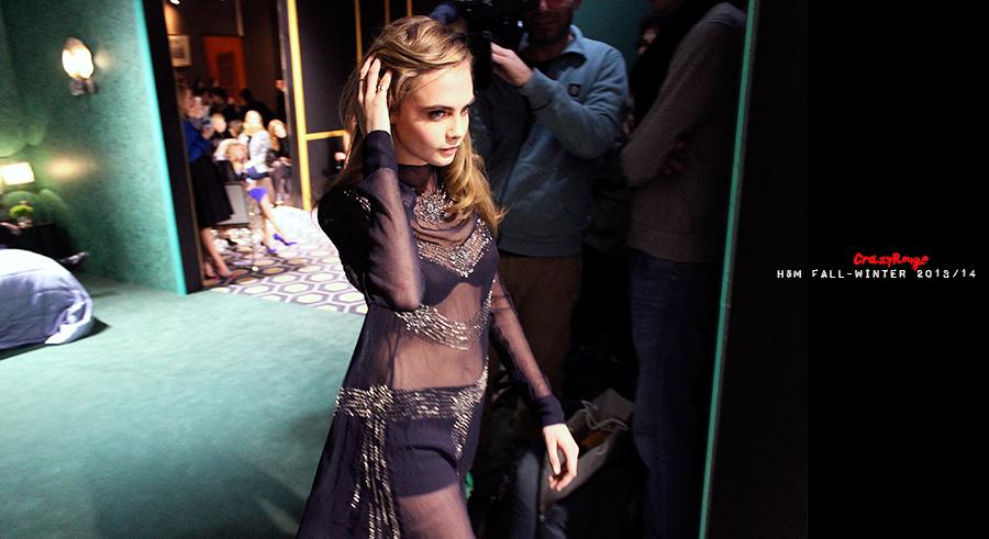 23 Crazy Rouge+Paris+Cara Delevingne+first+H&M+show