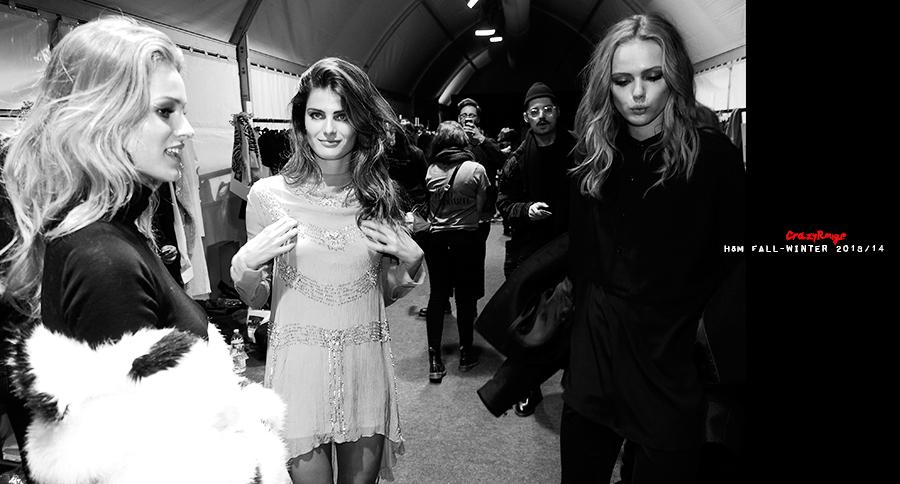 6 Crazy Rouge Paris+Isbeli Fontana+first+H&M+show