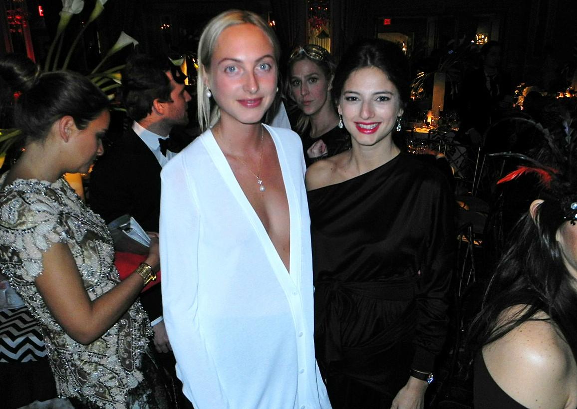 Claire Courtin-Clarins+Natalya Poniatowski Save Venice Masquerade Ball Un Ballo in Maschera