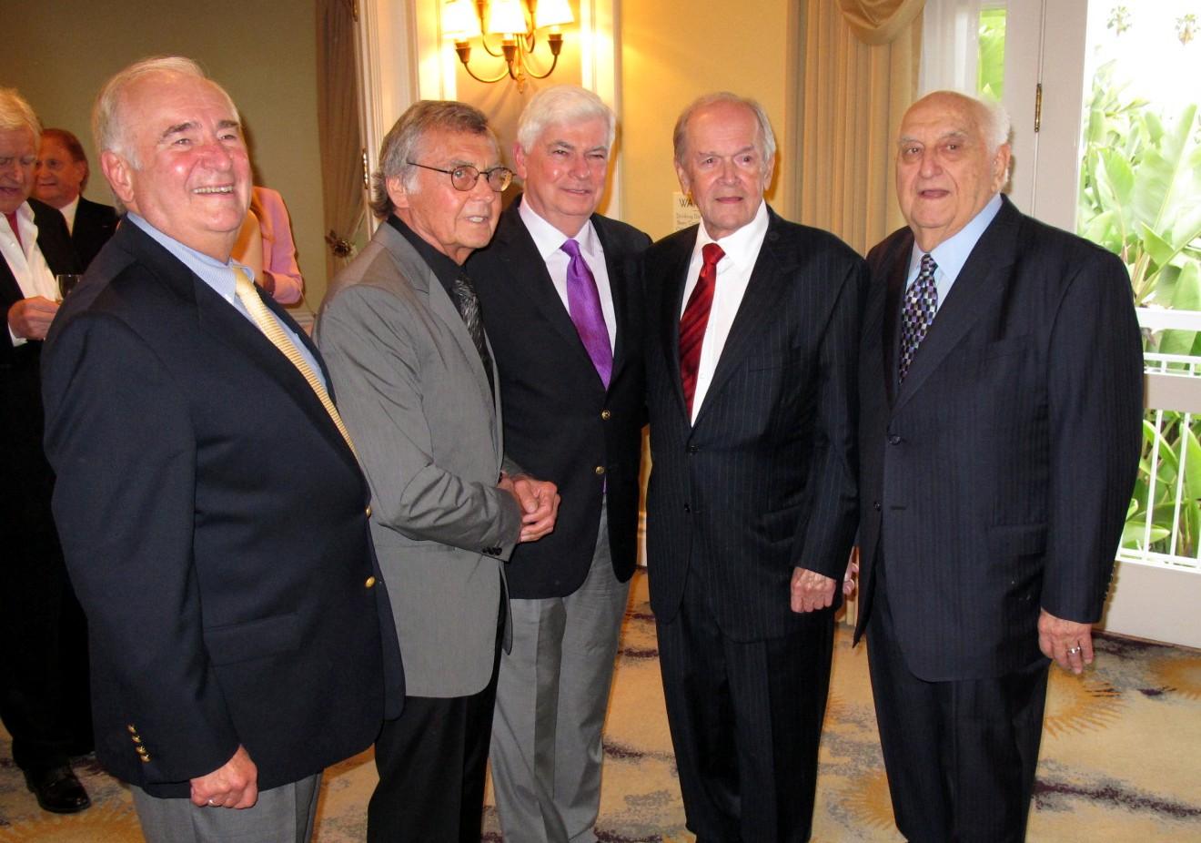 Dennis Doty, Norman Powell, Senator Christopher Dodd, Frank Price, Chuck Fries, 9TH ANNUAL AMERICAN SPIRIT AWARDS Beverly Hills Hotel
