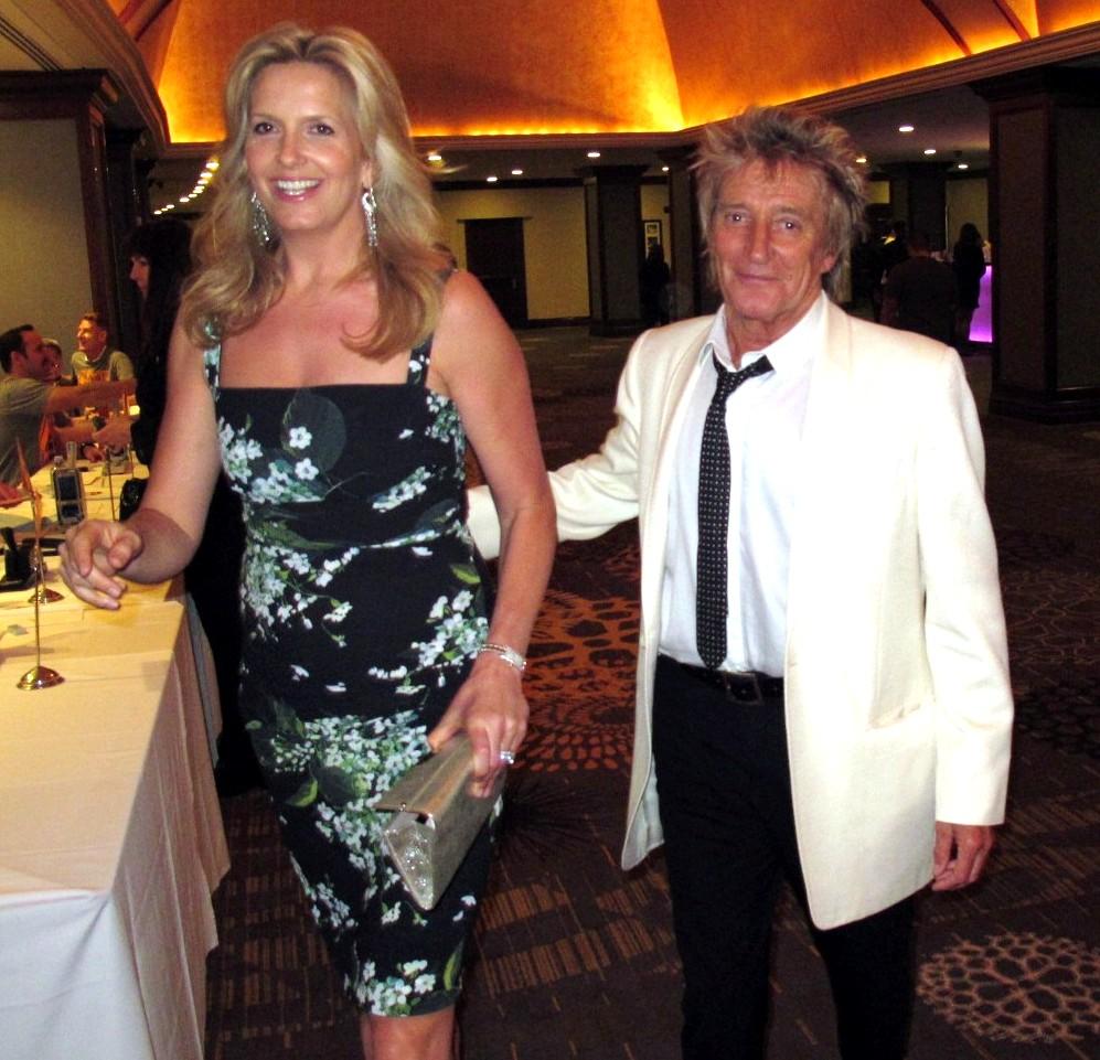 Rod Stewart, Penny Stewart, RACE to ERASE MS Gala