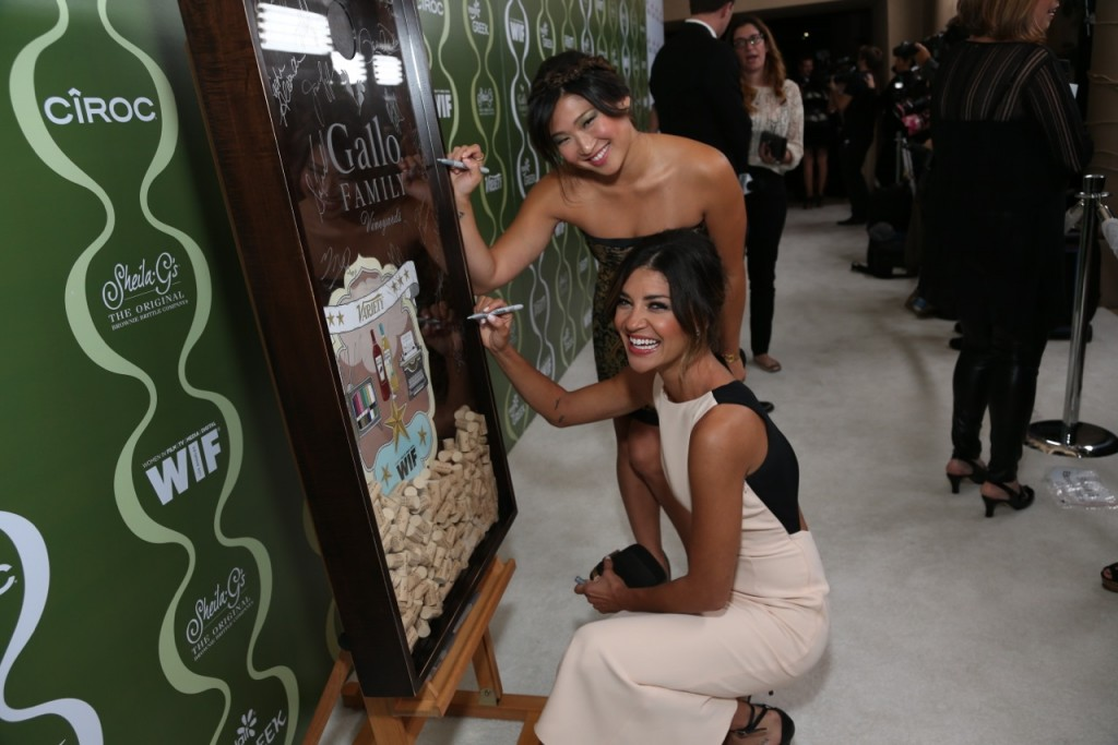 Jessica Szohr and Jenna Ushkowitz  Celebrate TV Families with Gallo Family Vineyards on the Red Carpet at the  Variety Women in Film Pre-Emmy Party