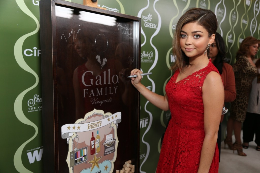 Sarah Hyland Celebrates TV  Families with Gallo Family Vineyards on the Red Carpet at the Variety Women  in Film Pre-Emmy Party