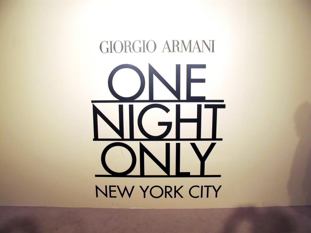 Giorgio Armani One Night Only