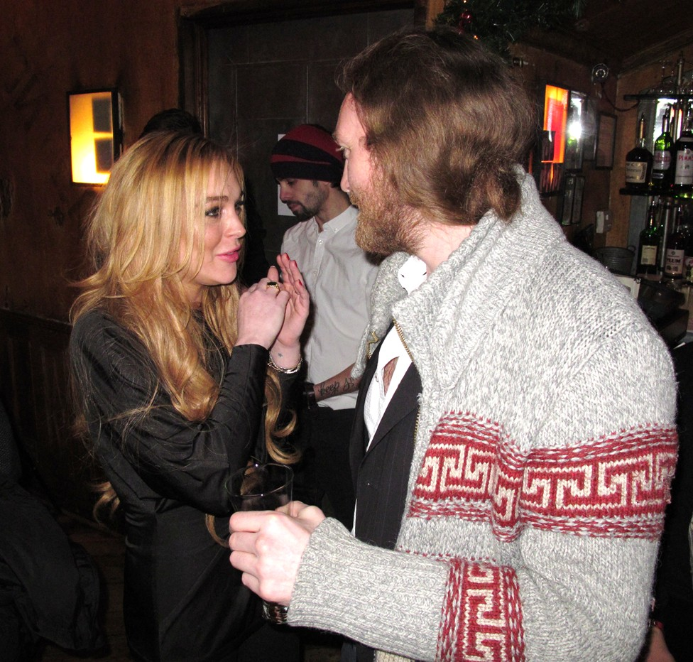 Lindsay Lohan Pravda NYC