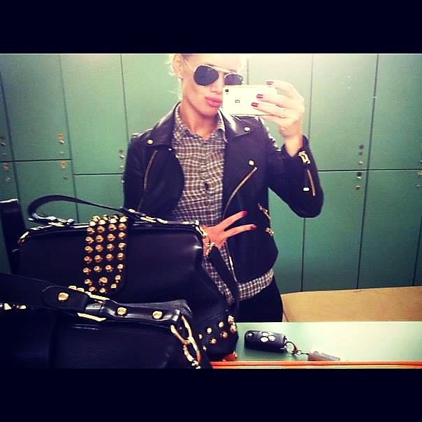 Olya Abramovich leather