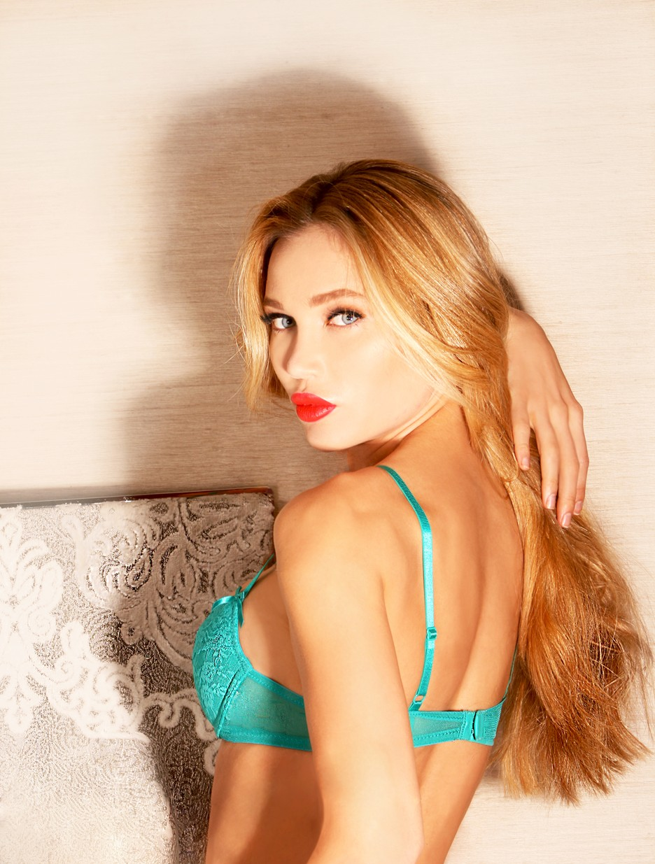 Natasha Galkina green side profile