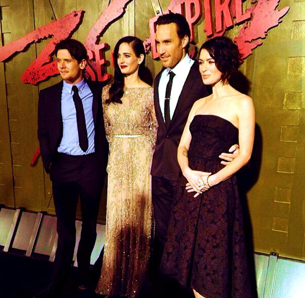 Jack O'Connell + Eva Green + Callan Mulvey + Lena Heady 300 Rise of an Empire premiere
