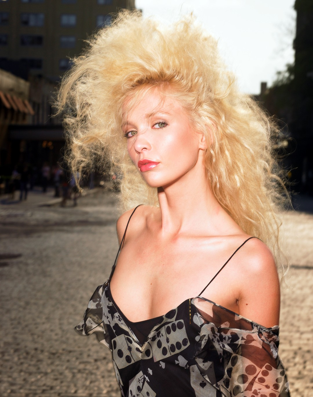 Karol Marie Morrison model big hair
