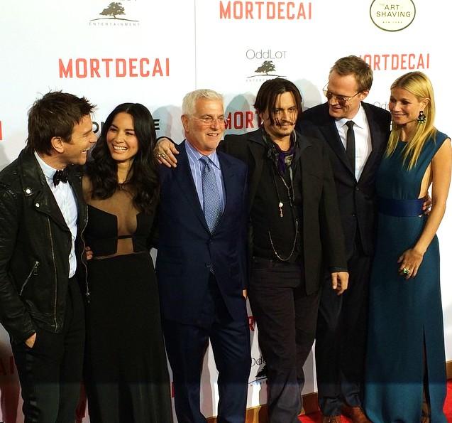 Mortdecai, Ewan McGregor, Olivia Munn, Johnny Depp, Paul Bettany, Gwyneth Paltrow, movie, red carpet