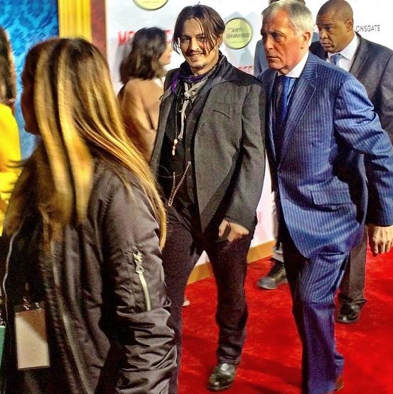 Mortdecai, Johnny Depp, movie, premiere