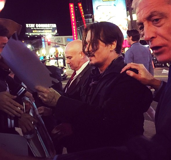 Mortdecai, Johnny Depp, premiere