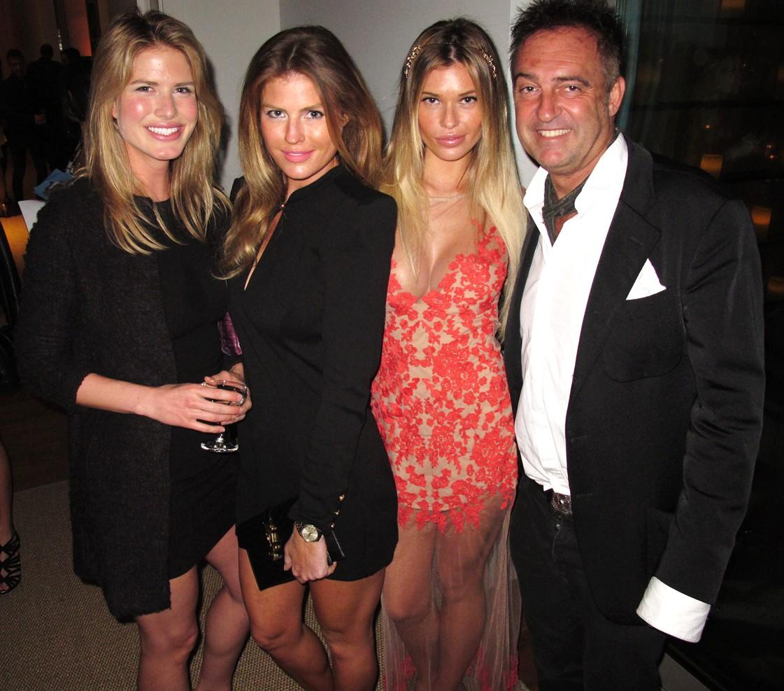 Treats Oscar party, AnnMarie Nitti, Samantha Hoopes, Antoine Verglas
