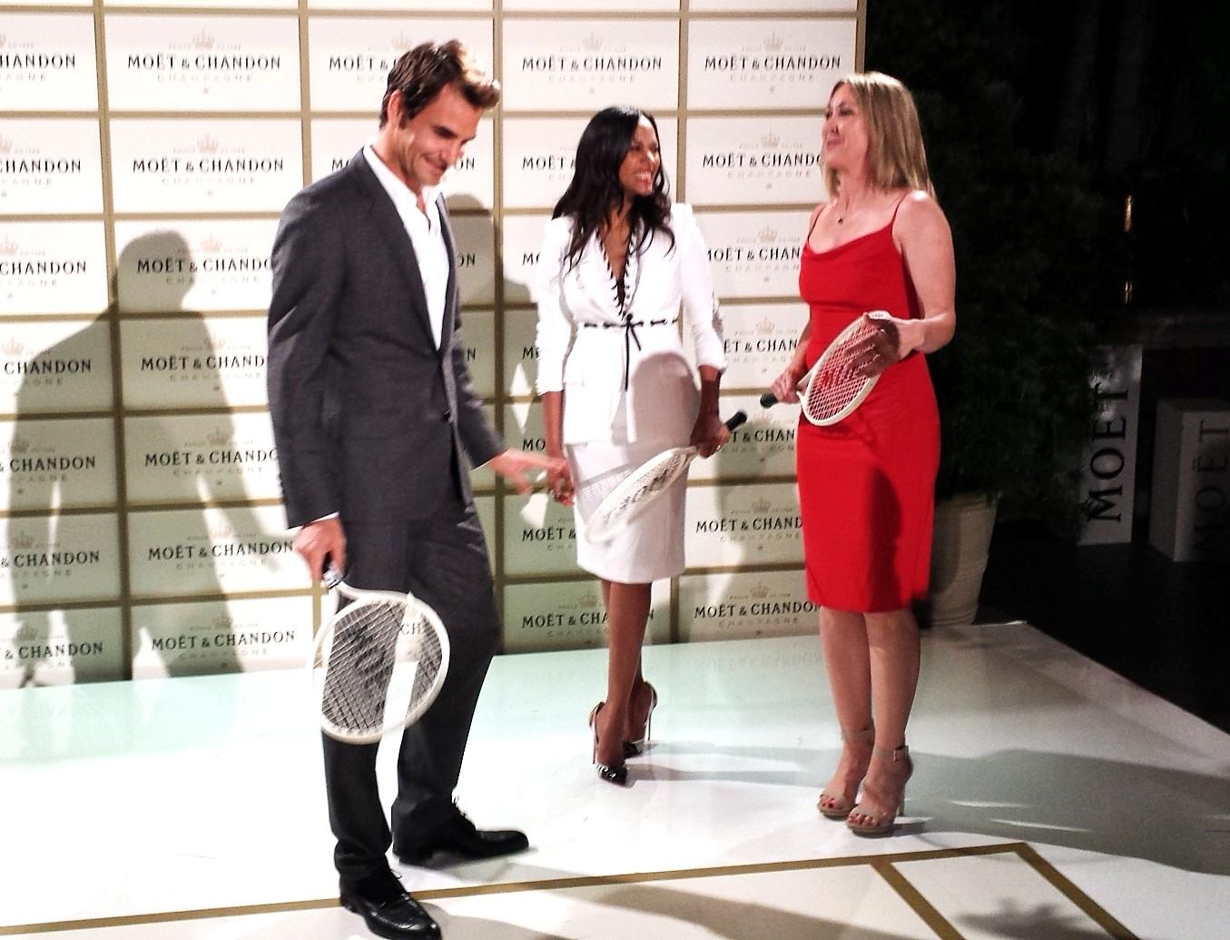 Moet Chandon, Roger Federer, Zoe Saldana, Jill Montgomery