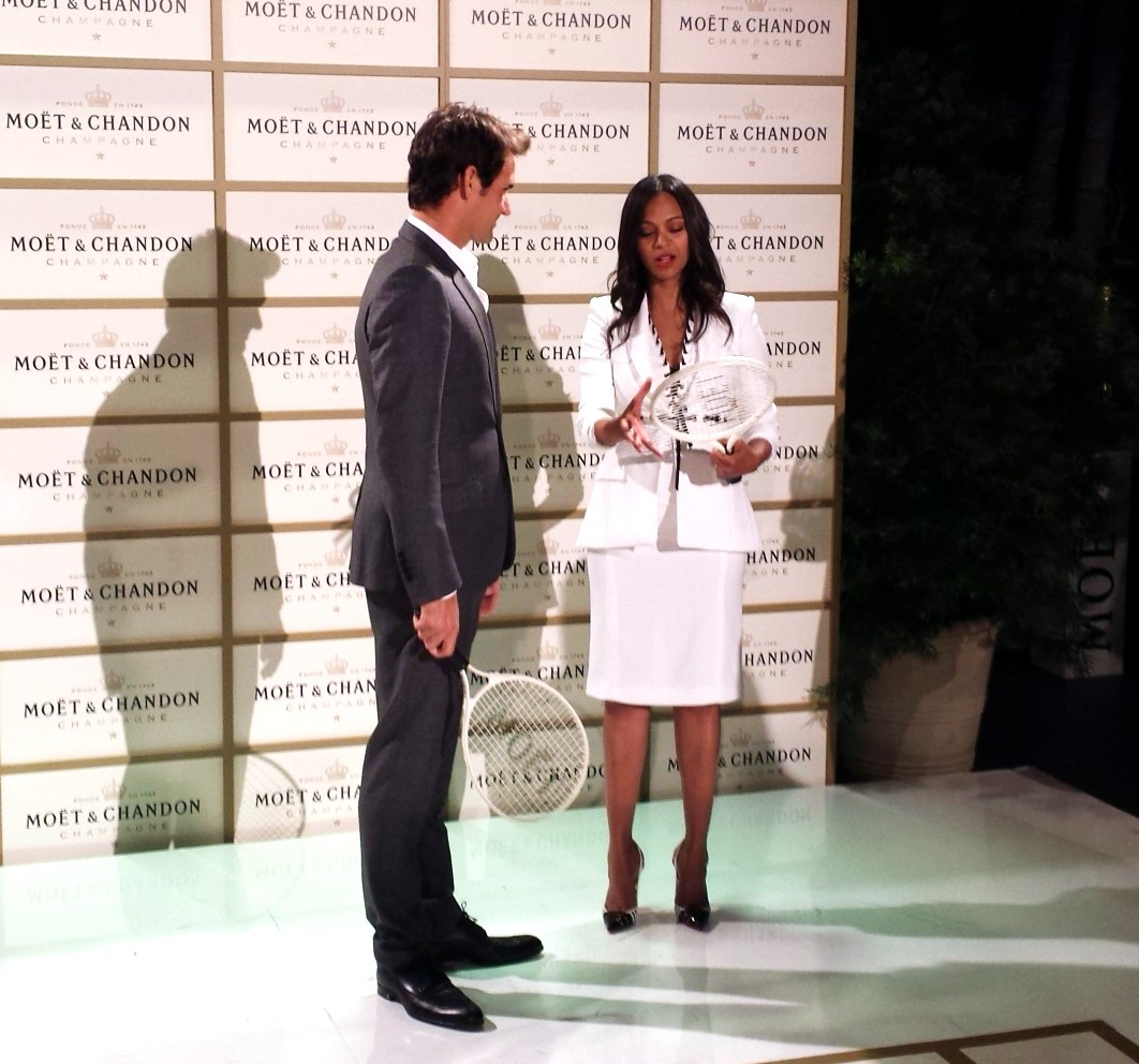 Moet Chandon, Roger Federer, Zoe Saldana, tribute