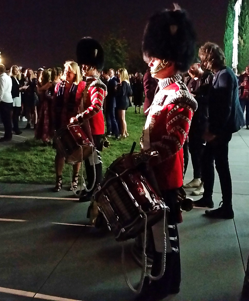 Burberry London in Los Angeles, Scottish guard