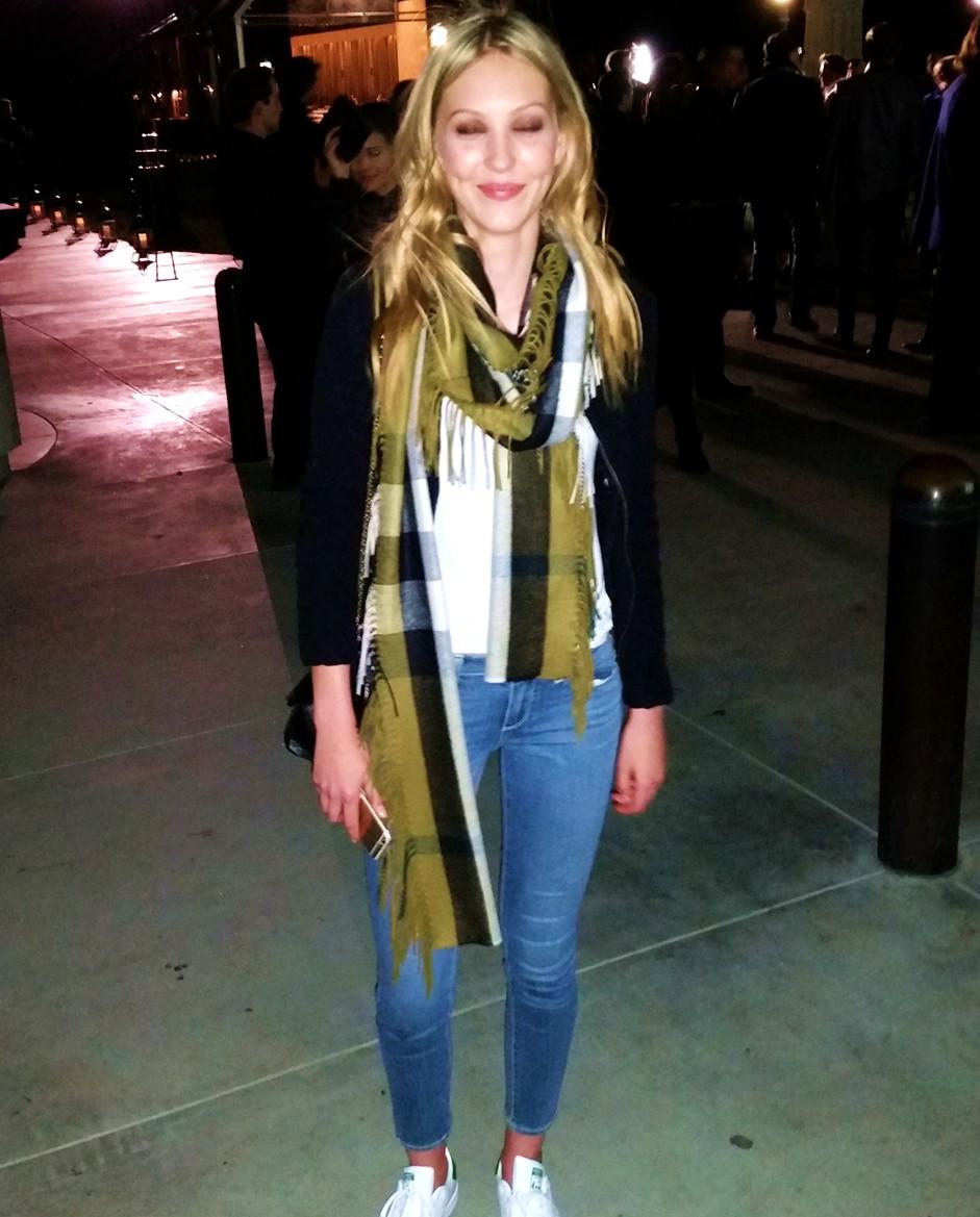 Burberry London in Los Angeles, model