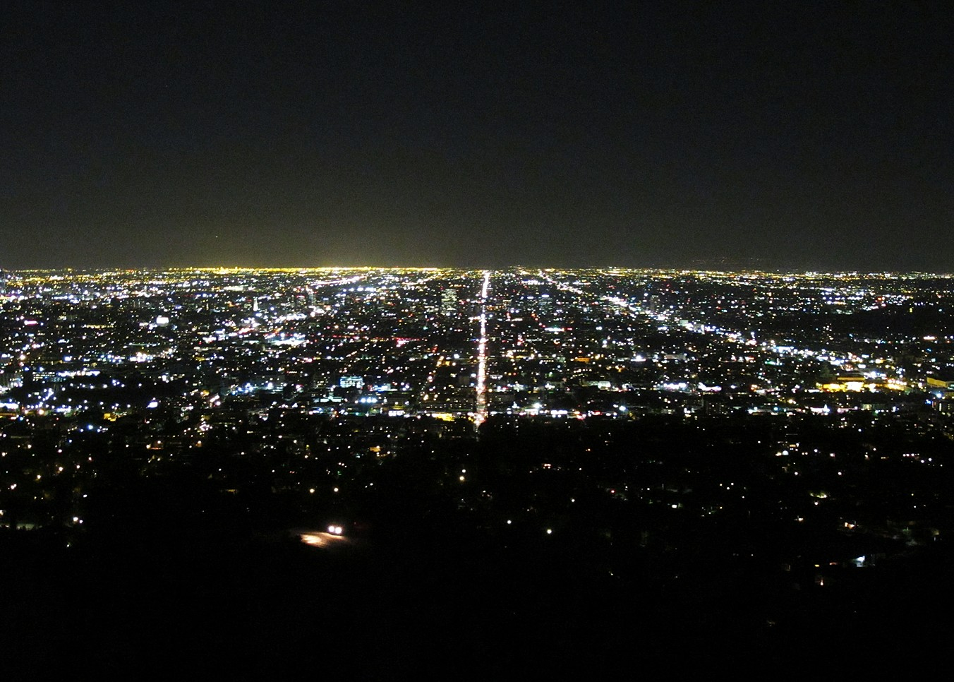 Burberry London in Los Angeles, view, lights