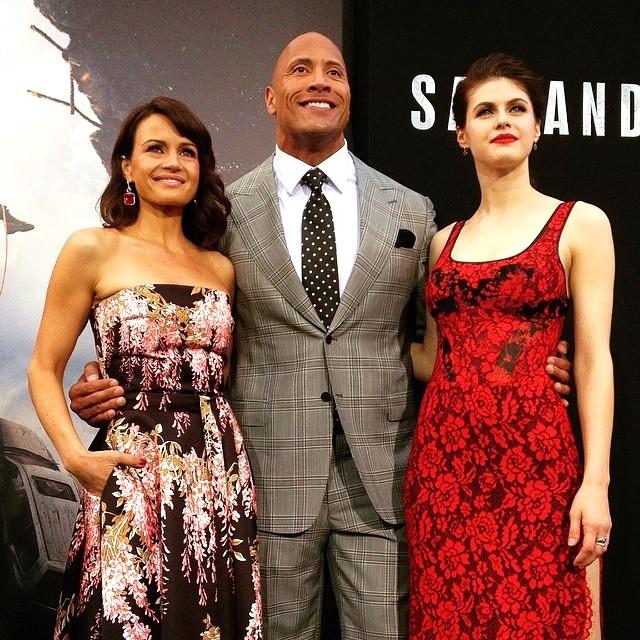 San Andreas movie, Carla Gugino, Dwayne Johnson, Alexandra Daddario