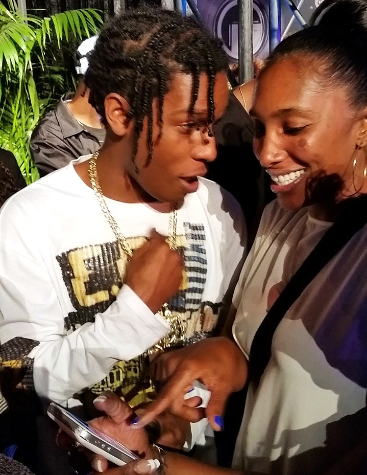 Straight Outta Compton, ASAP Rocky, after party