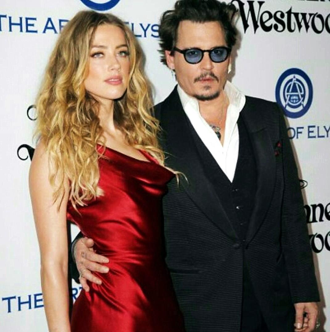 Golden Globes Art Elysium Amber Herd, Johnny Depp