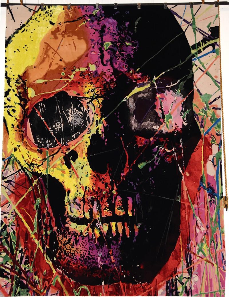 The Chaotic World of Eddy Bogaert, art, skull