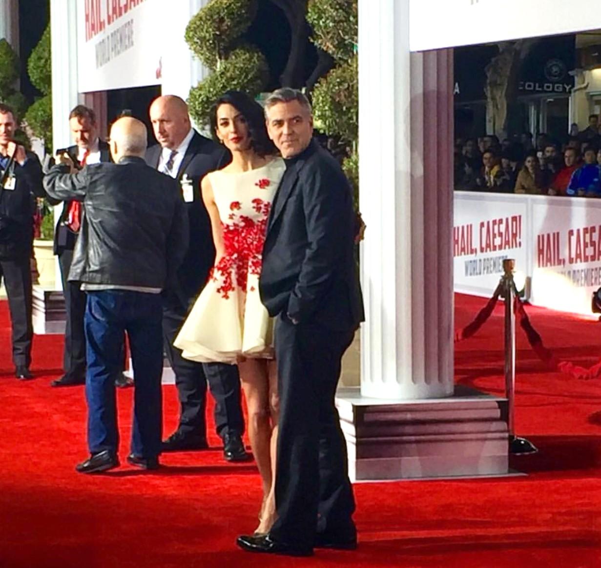 Hail Caesar, movie premiere, George Clooney, LA