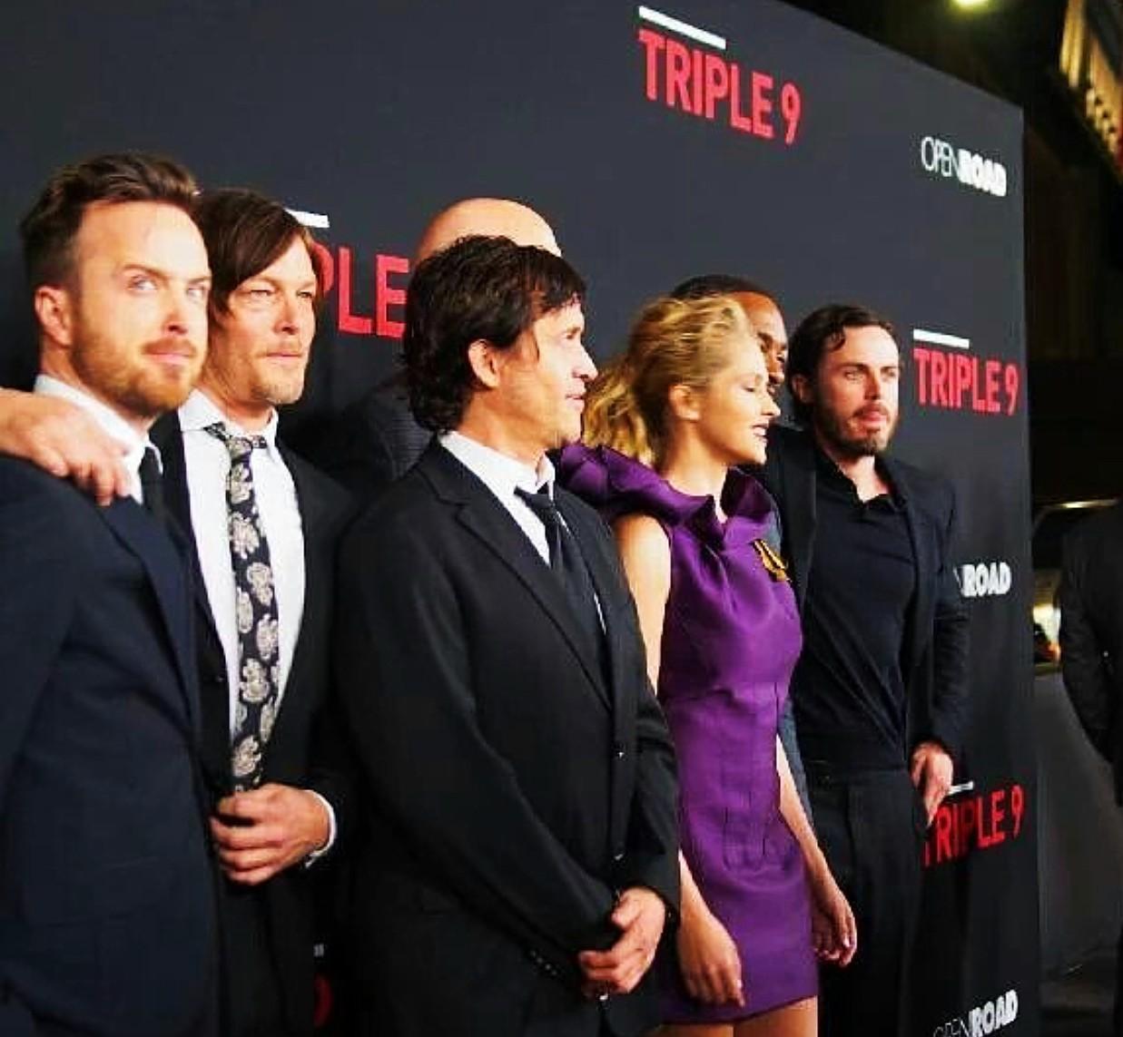 Triple 9, movie premiere, Aaron Paul, Casey Affleck, Norman Reedus