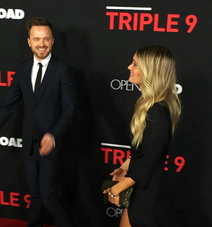 Triple 9, movie premiere, Aaron Paul, red carpet