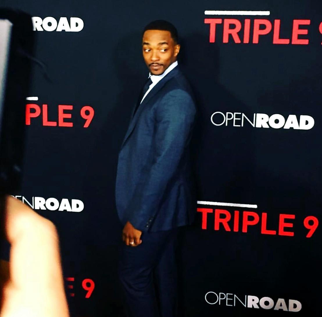Triple 9, movie premiere, Anthony Mackie, red carpet