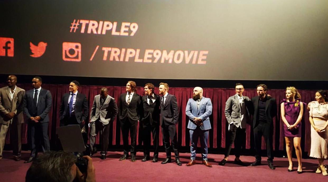 Triple 9, movie premiere, cast