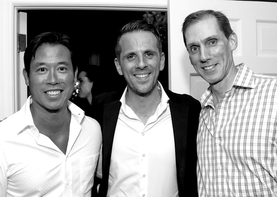 Matthew Yee, Gregoire Vogelsang Christian Porwoll==Cube Art Fair Intimate New York Party==Private Residence, NYC==September 1, 2016==©Patrick McMullan==Photo - Victor Hugo/PMC== == Matthew Yee; Gregoire Vogelsang;, Christian Porwoll