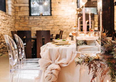 Kitchen Sync wedding table decoration
