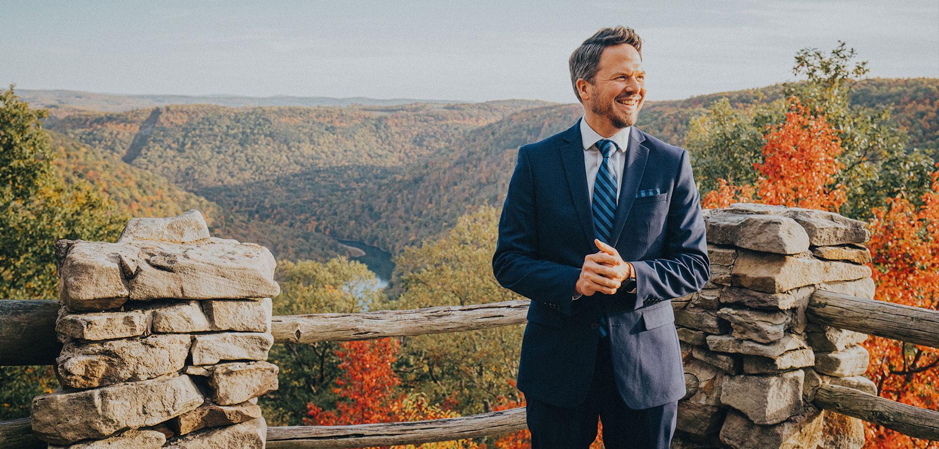Overlook on West Virginia Mountainside