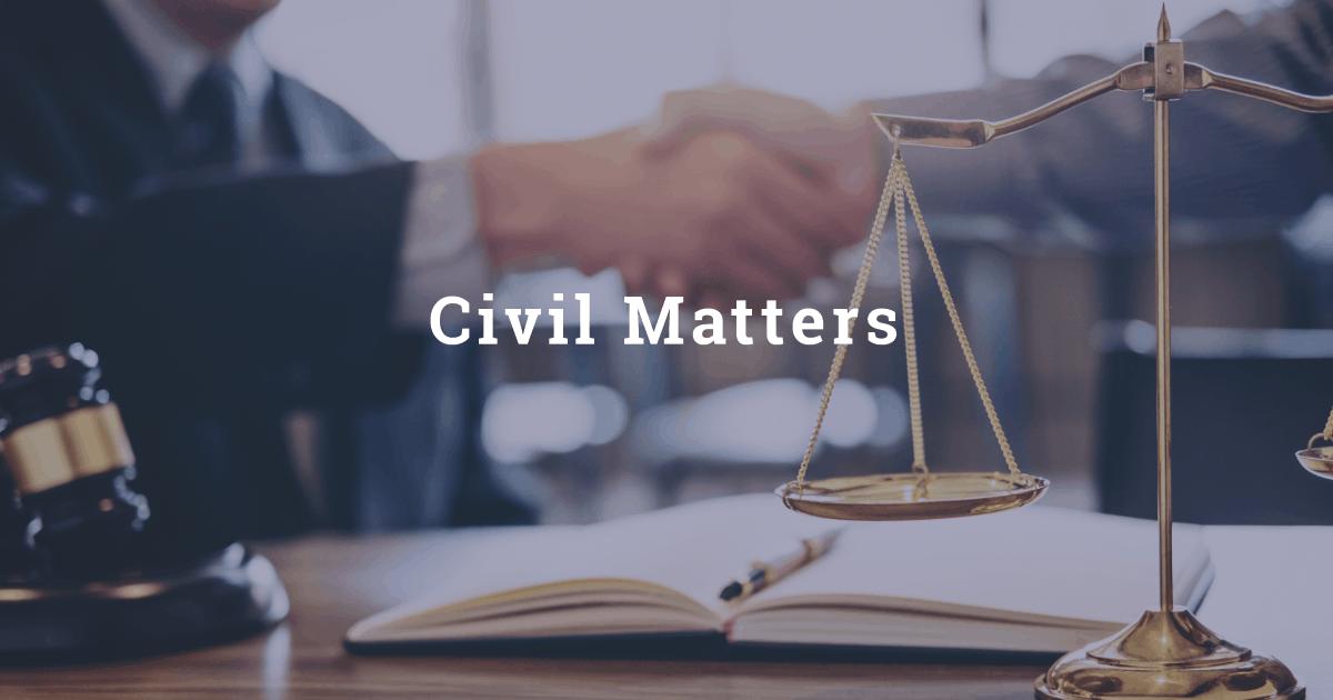 NJ Lawyer for Civil Matters