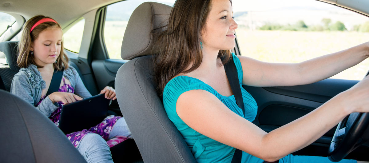 driving child carpooling