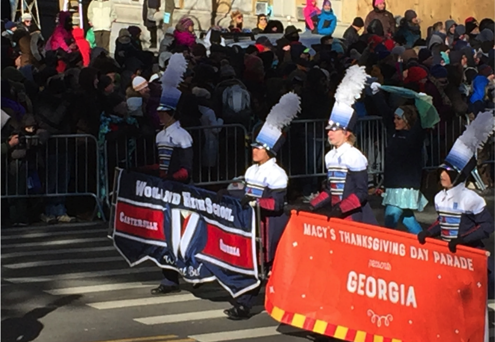 Woodland Band Marching in Macy's Thanksgiving Parade
