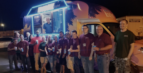 The White, GA Team Enjoyed Kona Ice