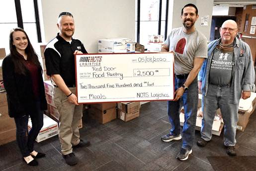 NOTS Logistics Purchases 1250 Meals For Red Door Food Pantry