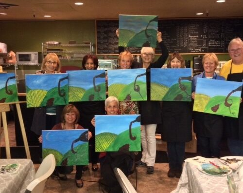 Easel and Wine Tasting Event at Village Market