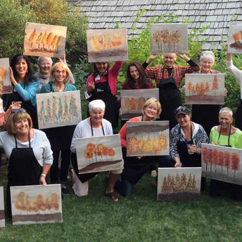 Easel and Wine Art Party in Incline Village, Lake Tahoe