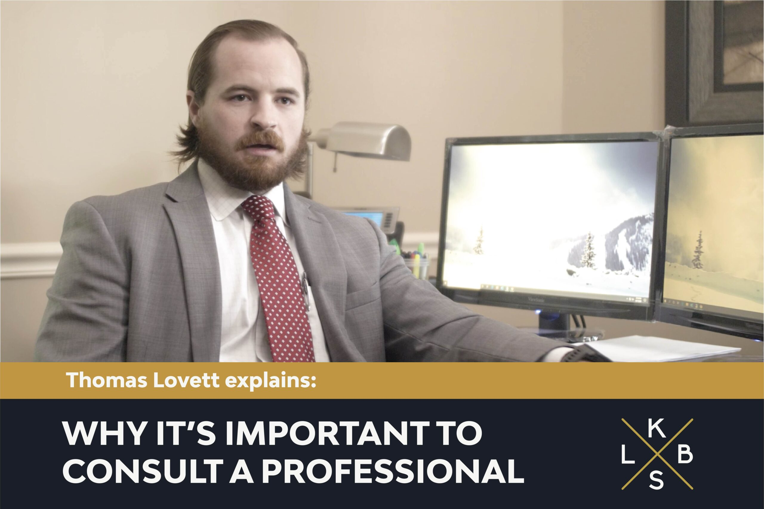 Thomas Lovett explaining why it's important to consult a professional bankruptcy attorney.