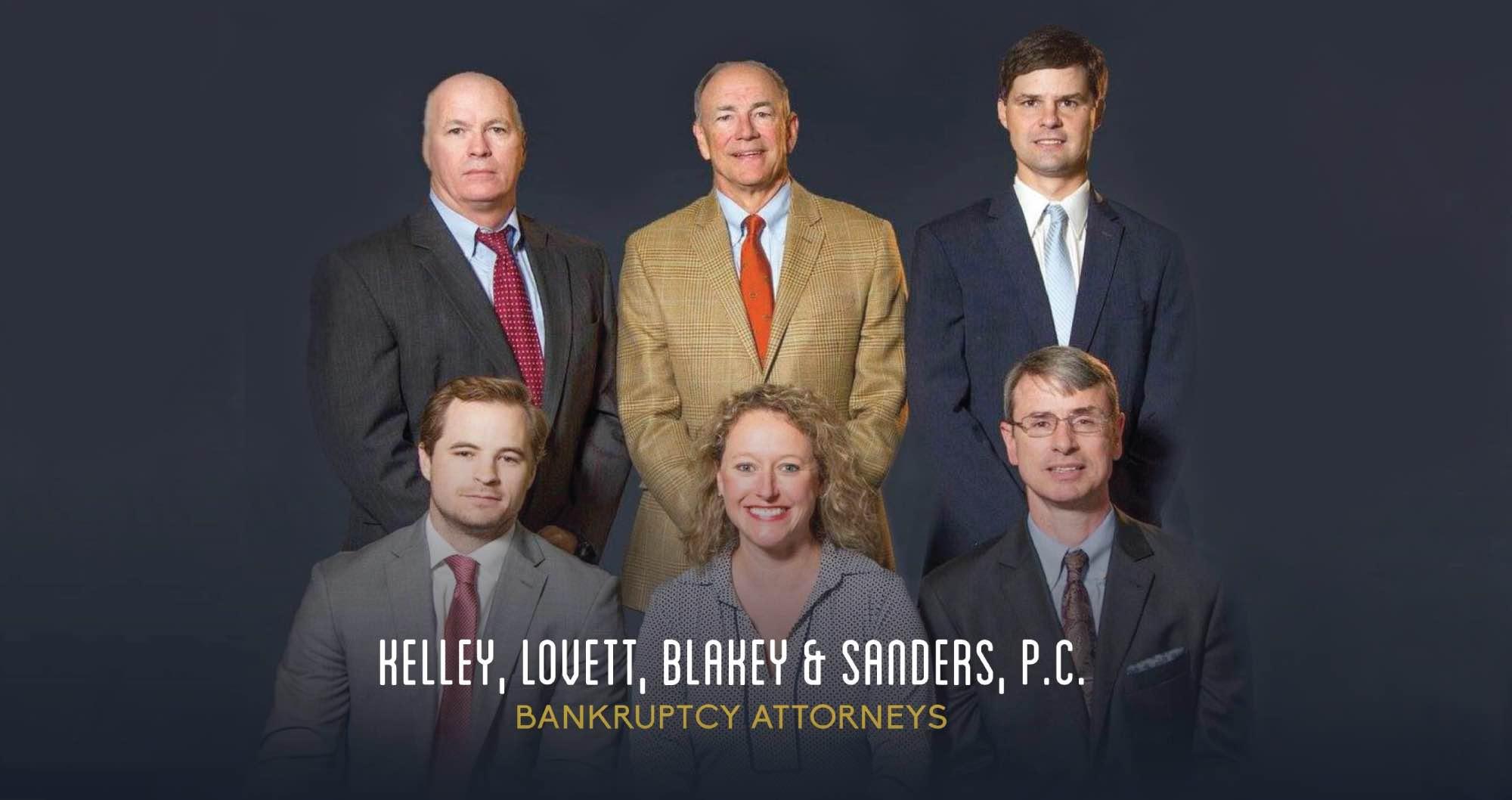 A photo of the team at Kelley, Lovett, Blakey, & Sanders.