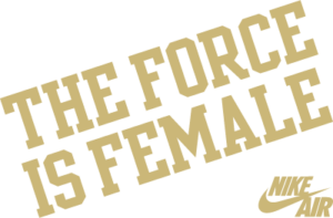 the force is female logo- NK052D GREEN