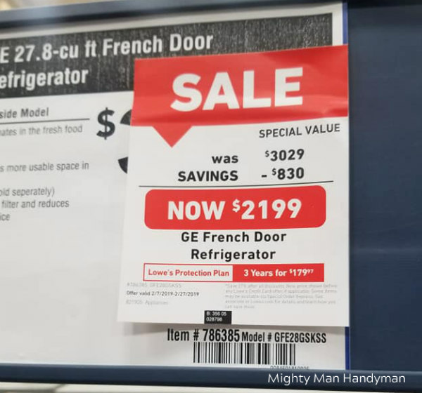 Lowe's Discounted Appliances